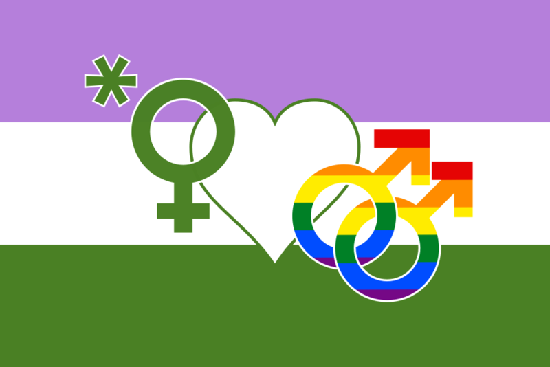 Girlfag+Genderqueer-Flagge